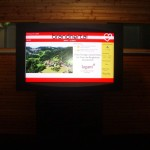 The outdoor totem, instalation in Brandnertal – iMotion® HD LCD display