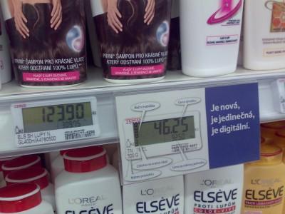 Digitální cenovka v obchodech Tesco
