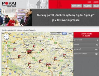 POPAI CE - Nový webový portál Digital Signage