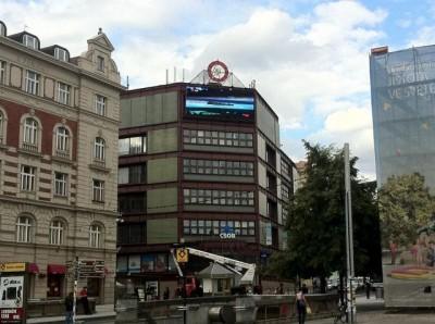 LED obrazovka Palackého náměstí Praha