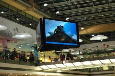 Největší plazmová obrazovka na světě v Paláci Flóra