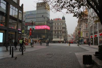 LED obrazovka Bonuss - Můstek, Václavské náměstí, Praha