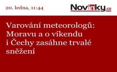 Novinky.cz - vysílání na LED obrazovce