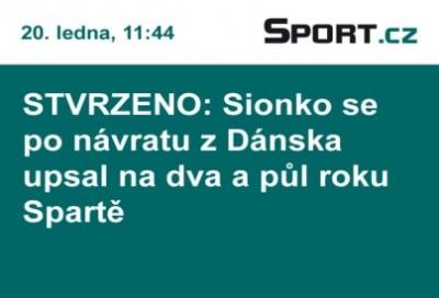 Sport.cz - vysílání na LED obrazovce