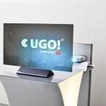 Projekční fólie VikuitiTM na přenosném prezentačním screenu