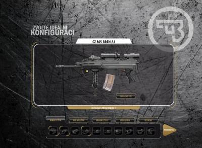 Zbrojovka Uherský Brod - online konfigurátor CZ 805 BREN